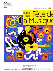 Affiche numérique Fête de la Musique 2021